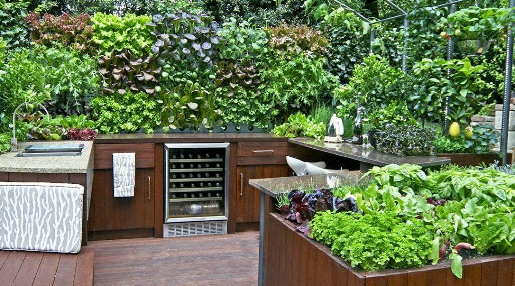 Kerti konyha fűszerkerttel