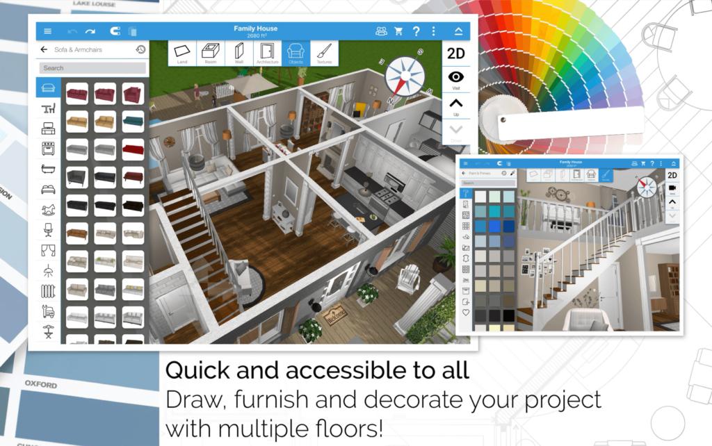 Home Design 3D interior tervezés
