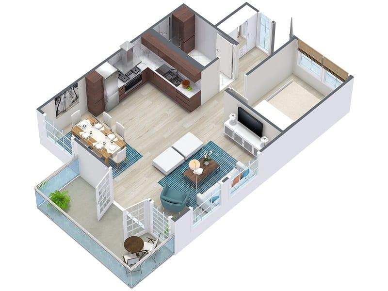 RoomSketcher 3D látványterv