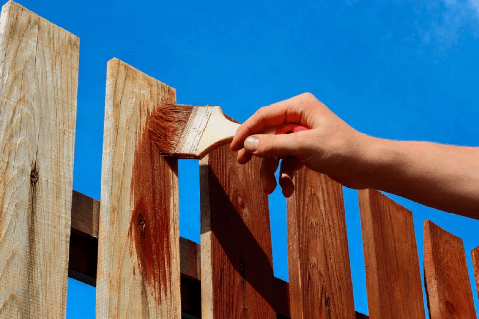 Kerítés festés