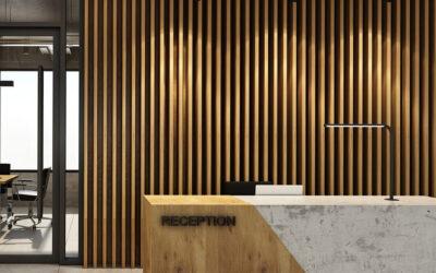 Modern fali dekoráció fából: bordázott falpanel és lécfal
